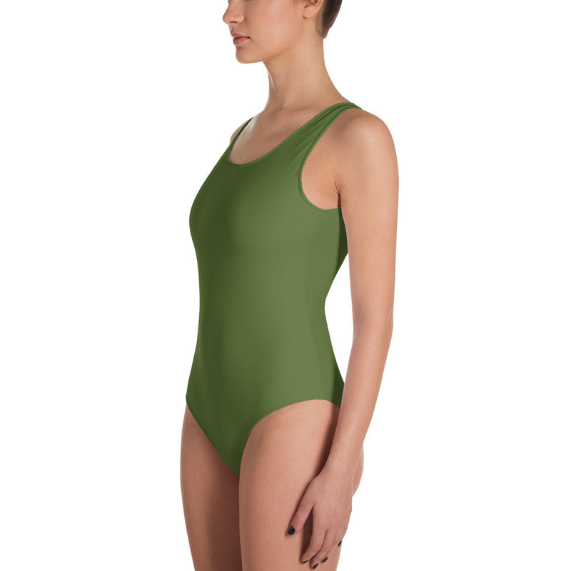 "QOB® Circle Crown""Palm"" One-Piece Swimsuit"