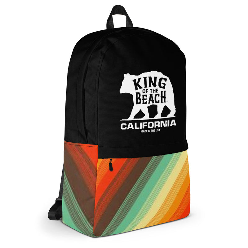 King Of The Beach® California Collection Retro Lines Backpack