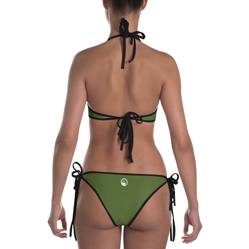 "QOB® Circle Crown ""Baja Palm"" Reversible Bikini"