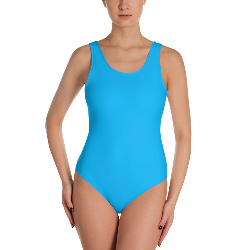 "QOB® Circle Crown ""Sky"" One-Piece Swimsuit"