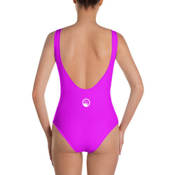 "QOB® Circle Crown ""Neon"" One-Piece Swimsuit"