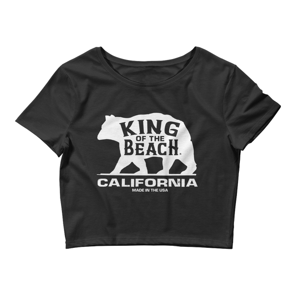 King Of The Beach® California Collection Black Crop Tee