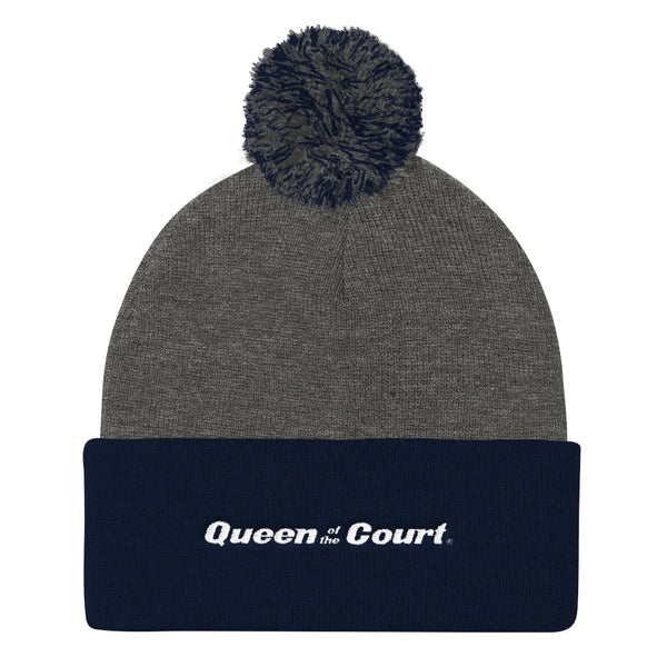 Queen Of The Court™ Signature Pom Pom Knit Cap