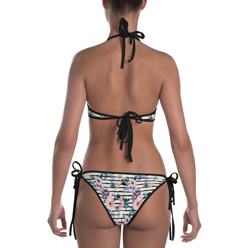 "QOB® Circle Crown ""Wonderland"" Reversible Bikini"