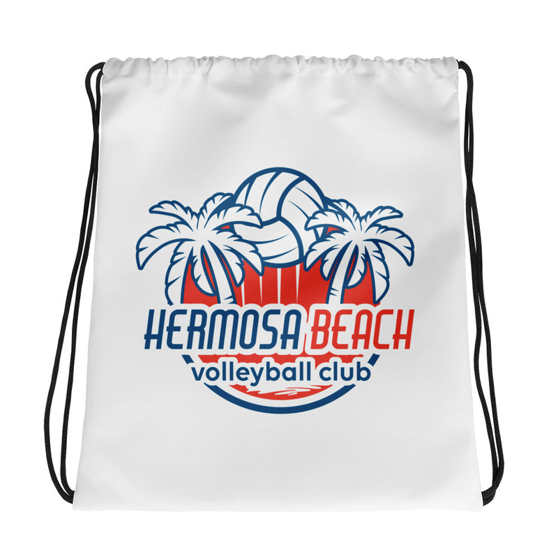 Queen Of The Beach™ Hermosa Beach Volleyball Club Drawstring bag