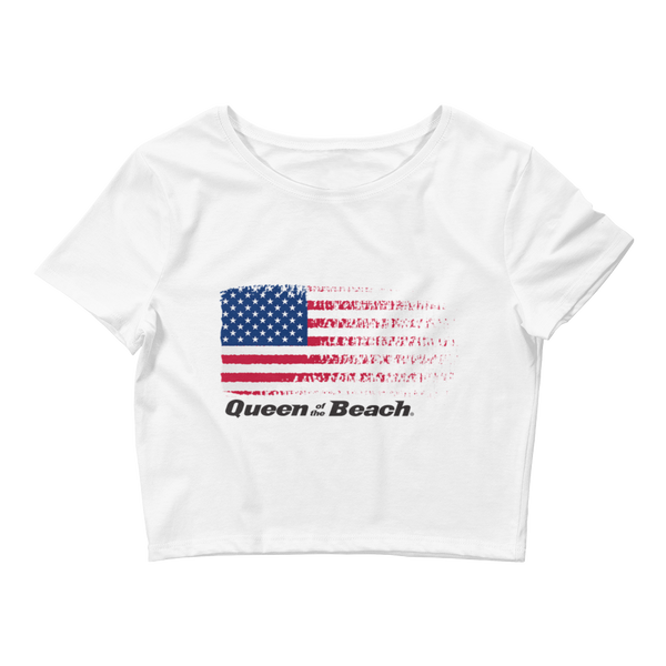 "Queen of the Beach® ""USA"" Crop Tee"