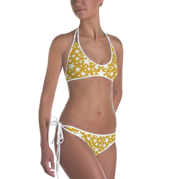 "QOB® Circle Crown ""Sparkle"" Reversible Bikini"