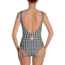 "QOB® Circle Crown ""Gingham"" One-Piece Swimsuit"
