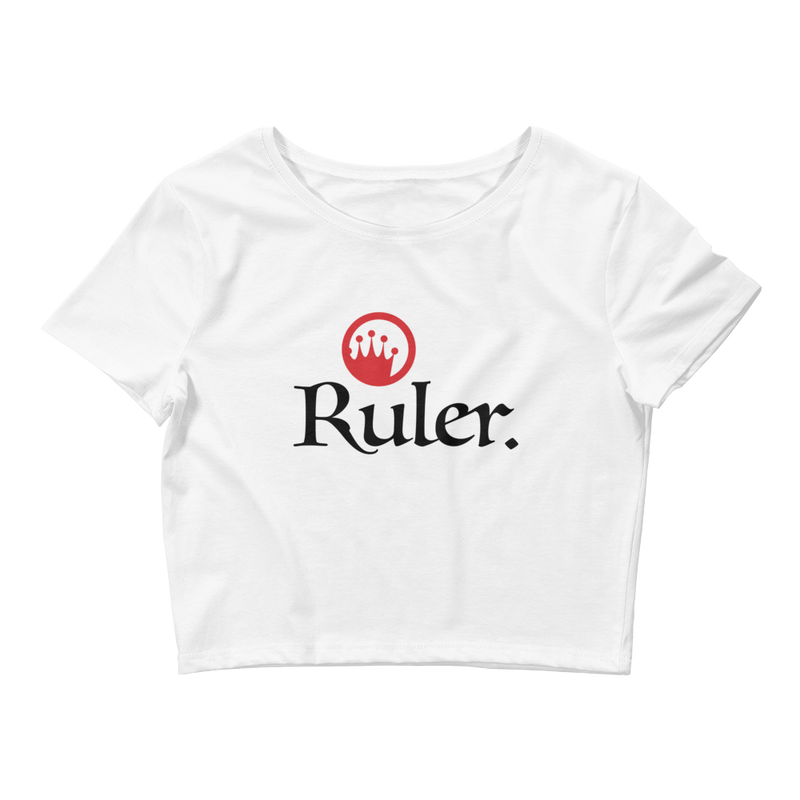 "Circle Crown ""Ruler."" Crop Tee"