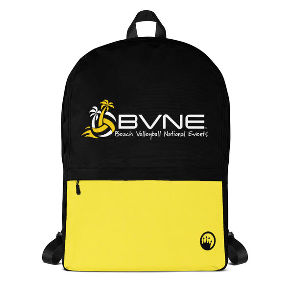 Queen Of The Beach® BVNE™ Collection Signature Black/Yellow Backpack
