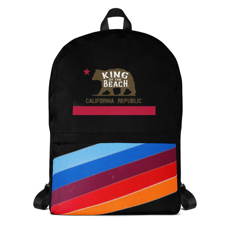 King Of The Beach® California Club Diagonal Retro Lines Backpack