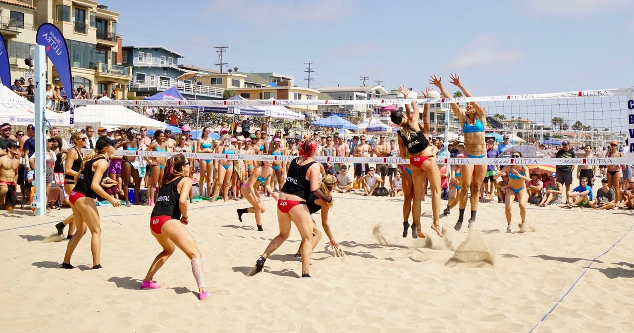 Get Noticed Beach Volleyball League king of the Beach and Queen of the Beach