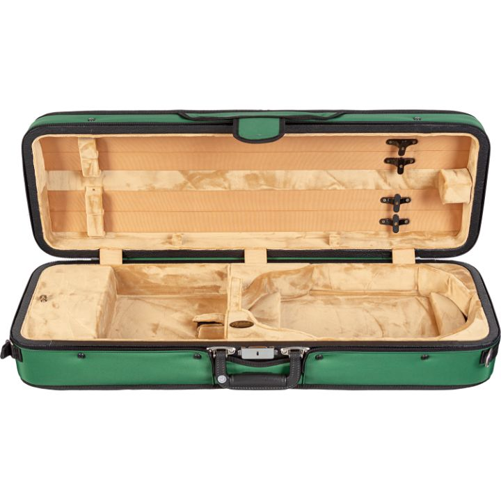 Bobelock 1003 Featherlite Puffy Oblong Violin Case Green - Interior