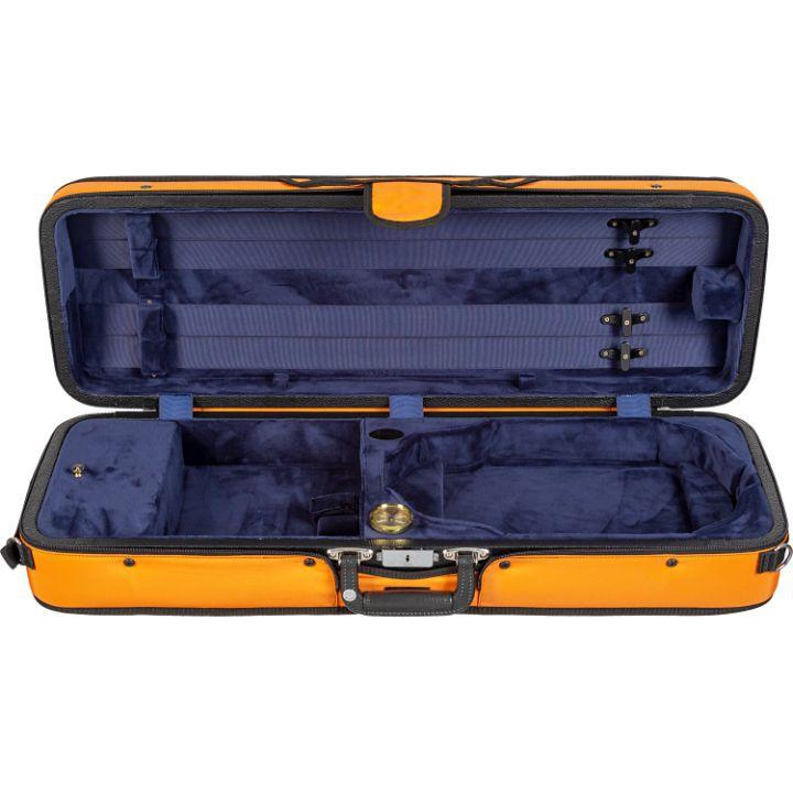 Bobelock 1003 Featherlite Puffy Oblong Violin Case Orange- Interior