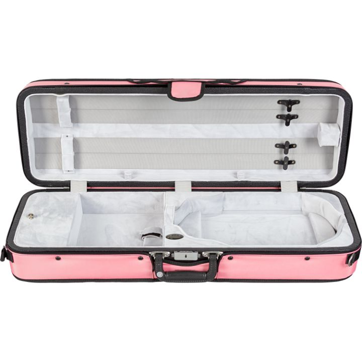 Bobelock 1003 Featherlite Puffy Oblong Violin Case Pink - Interior