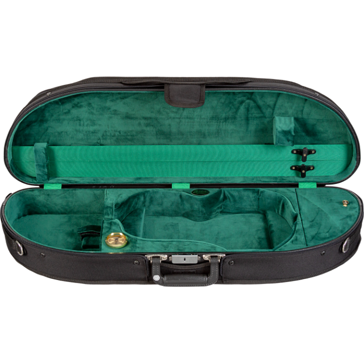 Bobelock 1047 Wooden Half Moon Green Violin Case
