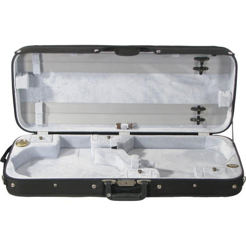Image of Gray Velvet Double Violin Case
