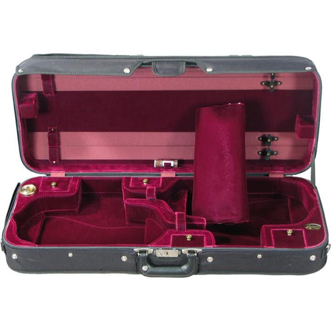 Wine Red Velvet Double Violin Case