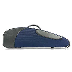 blue contoured violin case
