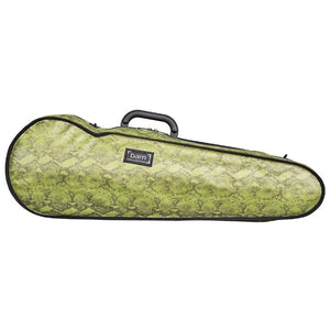 Bam Contoured Violin Case Green Snake Hoody- Front