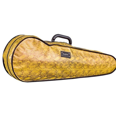 Bam Contoured Violin Case Yellow Snake Hoody - Side
