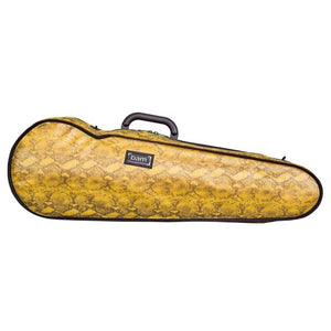Bam Contoured Violin Case Yellow Snake Hoody - Front