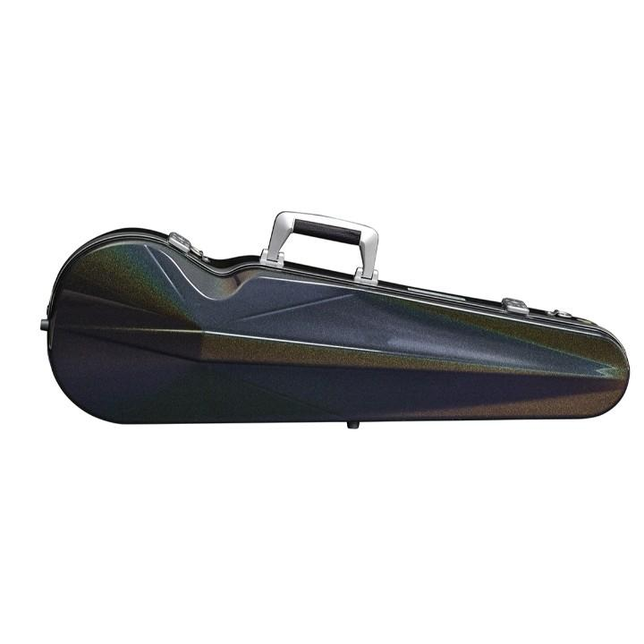 Bam Supreme Cosmic Contoured Violin Case Black - Silver Seal
