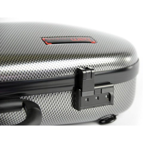 Bam Hightech Cabin Violin Case Carbon Silver