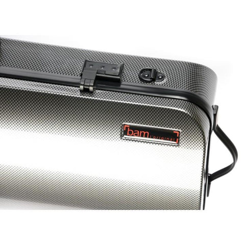 Image of silver carbon viola case
