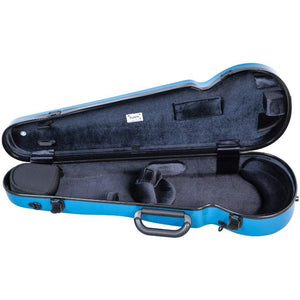 Bam Hightech Contoured Violin Case Azure Blue