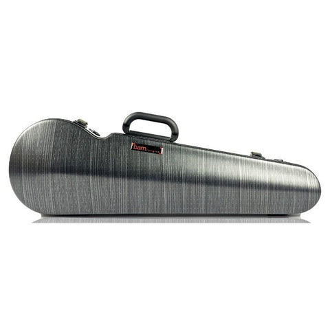 Image of Bam Hightech Lazure Black Contoured Violin Case - Front