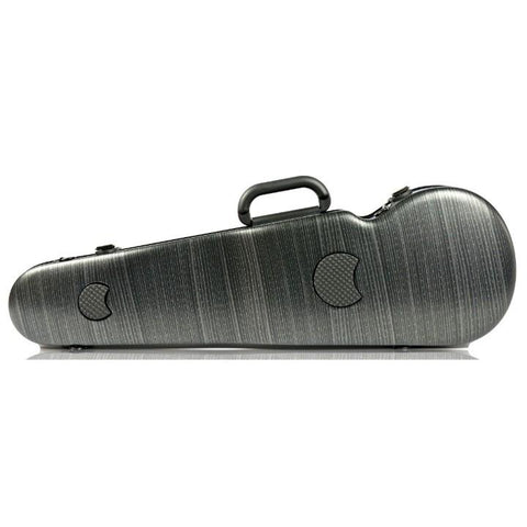 Image of Bam Hightech Lazure Black Contoured Violin Case - Back