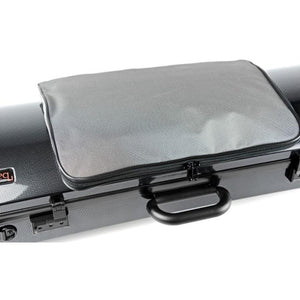 Bam Hightech Oblong Viola case Compact Size with pocket Black Carbon look