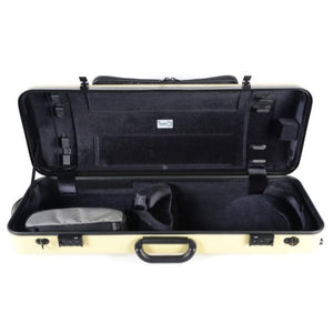 Bam Hightech Oblong Viola case Compact Size with pocket Anise