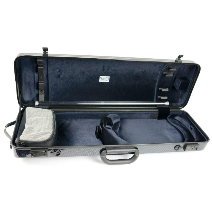Bam Hightech Carbon Black Oblong Violin Case - Interior