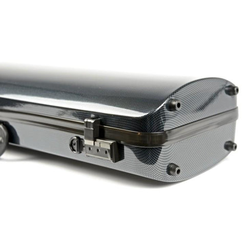 Image of Bam Hightech Carbon Black Oblong Violin Case - Combination Locks