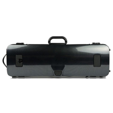 Image of Bam Hightech Carbon Black Oblong Violin Case - Back