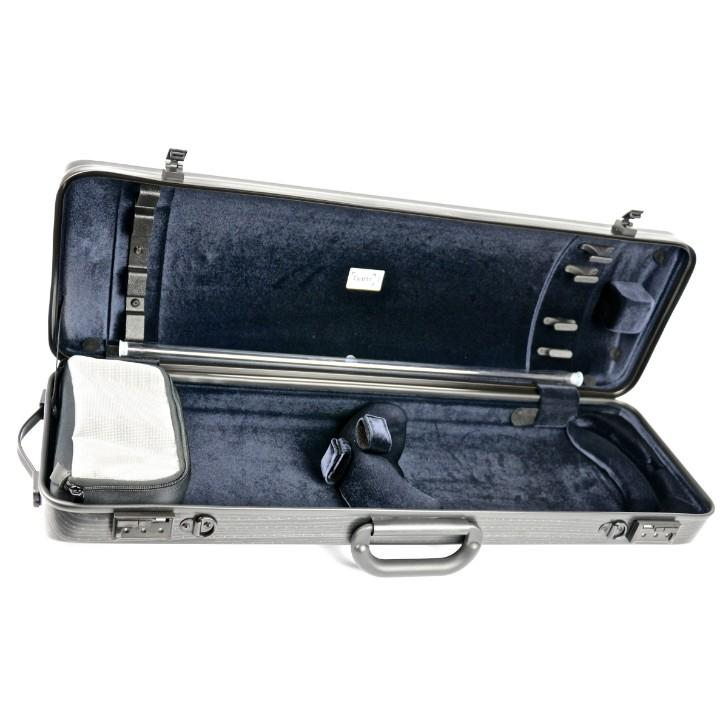 Bam Hightech Oblong Lazure Black Violin Case - Interior