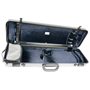 Bam Hightech Oblong Violin Case Silver Carbon