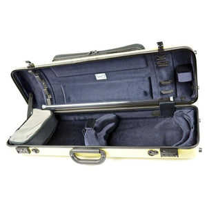 Bam Hightech Oblong Violin Case Anise with Pocket