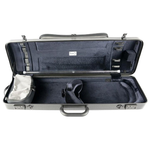 bam oblong violin case black lazure with pocket