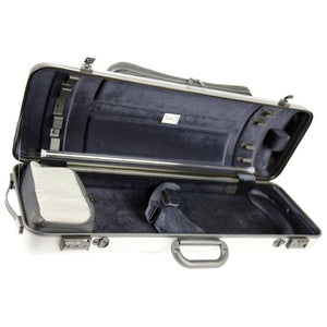Bam Hightech Oblong Violin Case Metallic Silver with Pocket