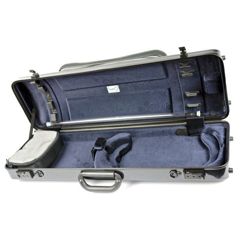 Bam Hightech Oblong Violin Case Carbon Black with Pocket