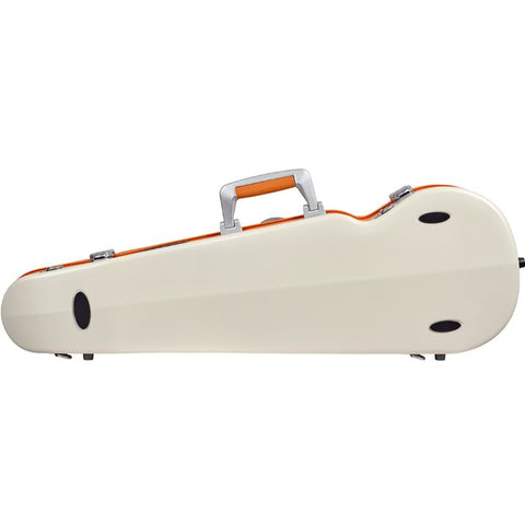 Bam Ice Supreme Contoured White-Orange Seal Violin Case- Back