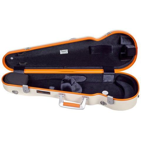 Image of Bam Ice Supreme Contoured White-Orange Seal Violin Case- Interior