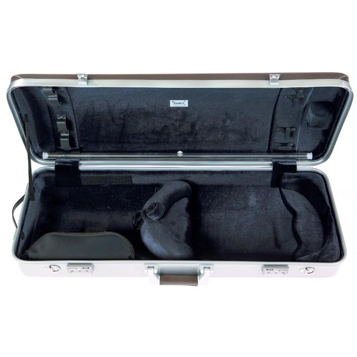 brown leather viola case