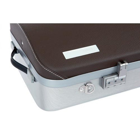 Image of brown leather viola case