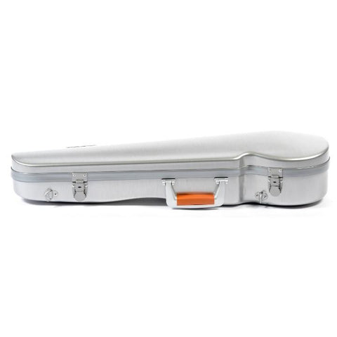 Image of Bam La Defense Aluminum Contoured Violin Case - Side