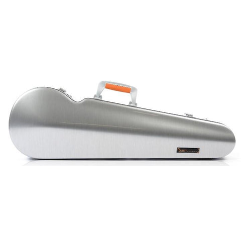 Image of Bam La Defense Aluminum Contoured Violin Case - Front