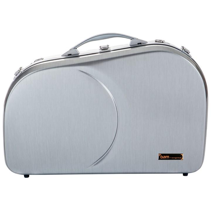 La Defense Hightech Adjustable  Brushed Aluminum French Horn Case